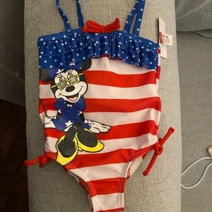 Minnie Mouse 3-6 Mo 1pc Swimsuit NWT